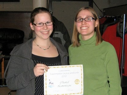 Chantal Lamontagne : St. Lawrence Toastmasters Montreal