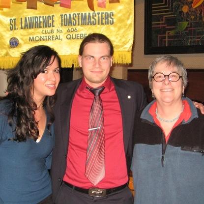 Lorena et Helena - nouvelles membres du Club St-Lawrence Toastmasters Montréal