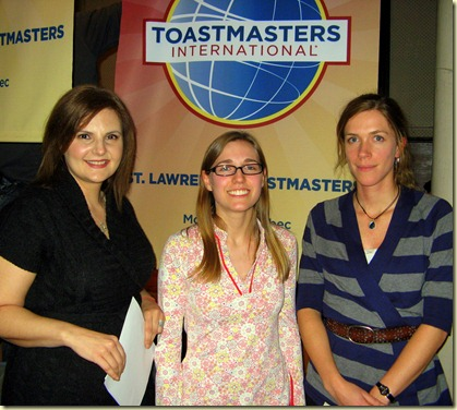 St. Lawrence Toastmasters - Kiri - Julie