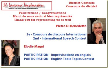 Pietro Elodie Toastmasters District 61 2016 contest