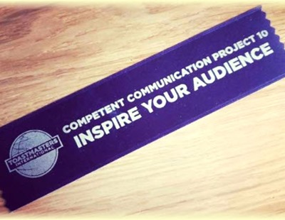 Toastmasters - Inspire  your audience ribbon