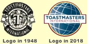 Toastmasters Logo 1948 vs 2018